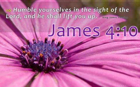 雅各书4:10