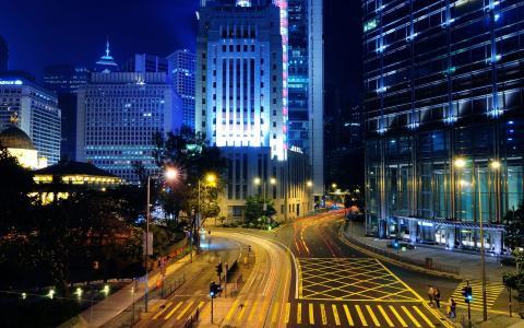 在夜晚点燃的城市