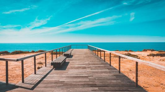 迷人唯美的海滩风景