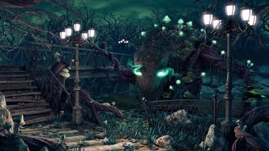 令人毛骨悚然的夜晚在桥上