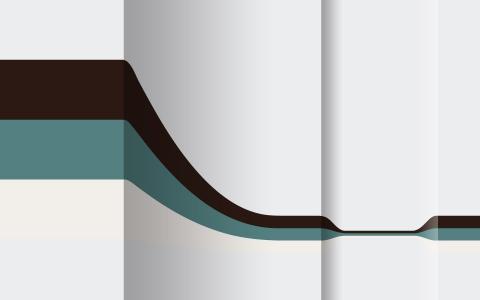 水平弯曲的条纹