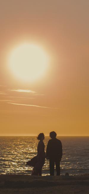 夕阳下的唯美爱情
