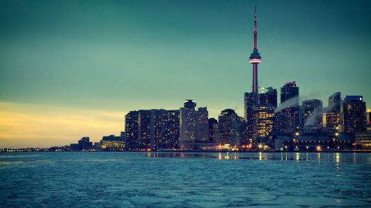 多伦多城市夜景风光