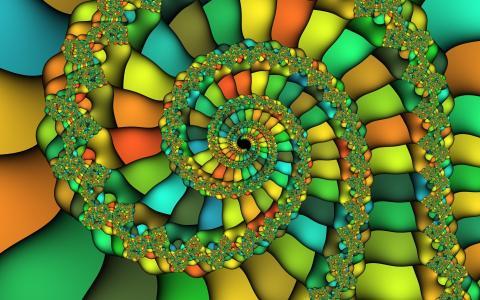 多彩的分形漩涡