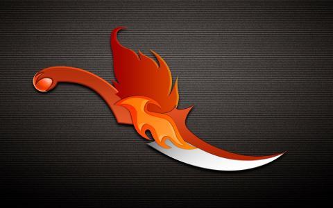 橙色的刀子