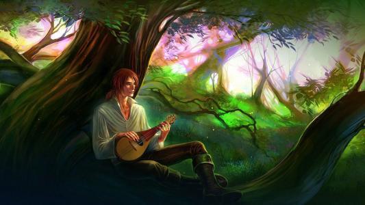 在森林里唱歌