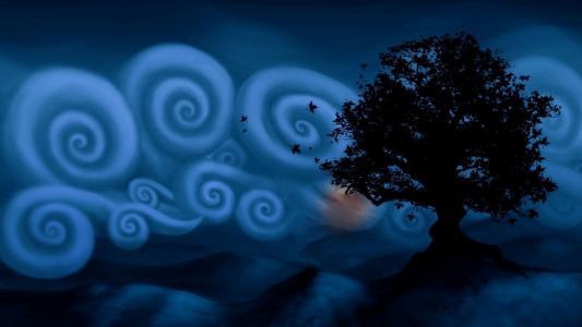 在夜空中的白色螺旋云