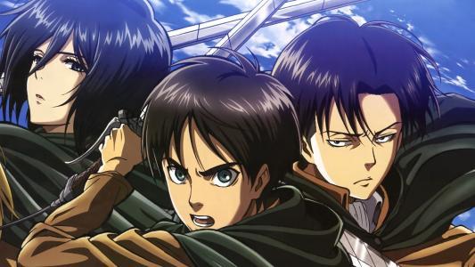 Mikasa Ackerman,Eren Yeager和Levi