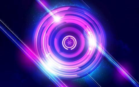 紫色的圆圈