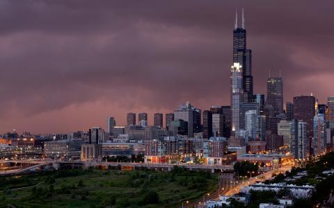 芝加哥的唯美夜色