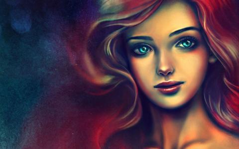 灿烂的红发