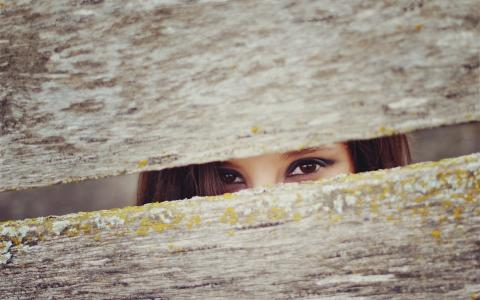 美丽的棕色眼睛