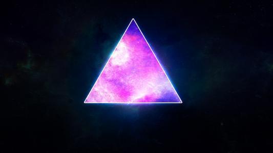 发光的三角形
