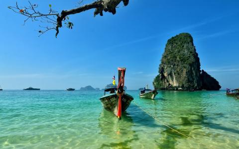 莱利海滩,泰国