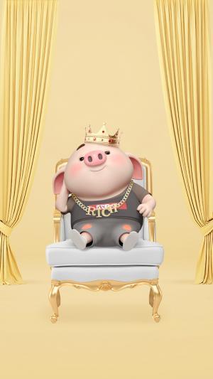 可爱的国王猪小屁