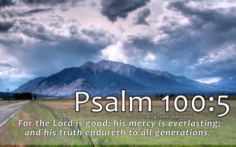 诗篇100:5
