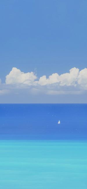 清新迷人的夏日海景