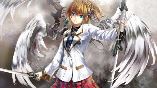 动漫天使与剑