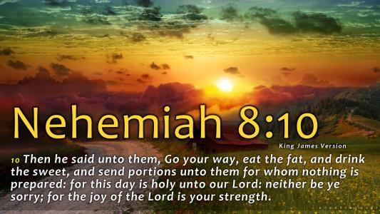 尼希米记8:10