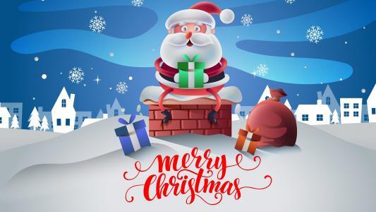 圣诞老人祝你圣诞快乐