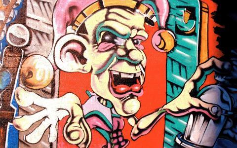 邪恶的小丑涂鸦