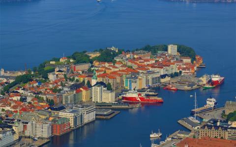 挪威卑尔根的唯美意境
