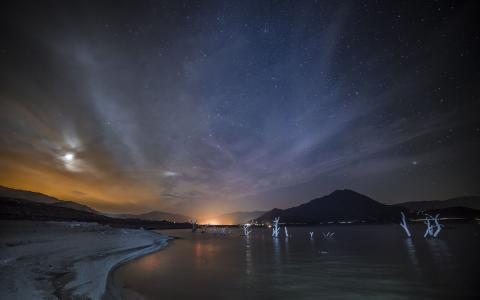 海上的夜空