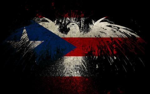 鹰塑造波多黎各国旗