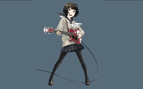 动漫吉他的女孩