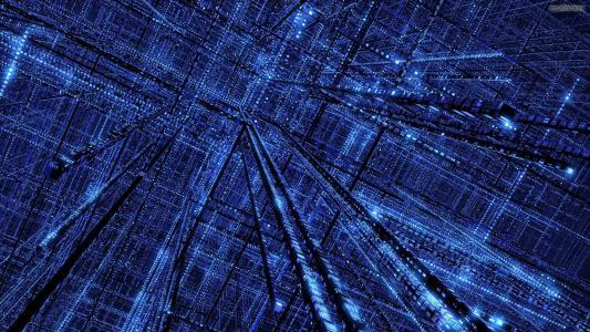 蓝色的网格