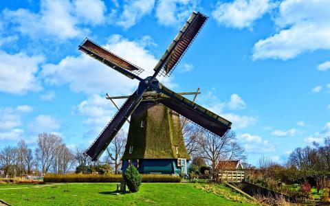 荷兰风车美景