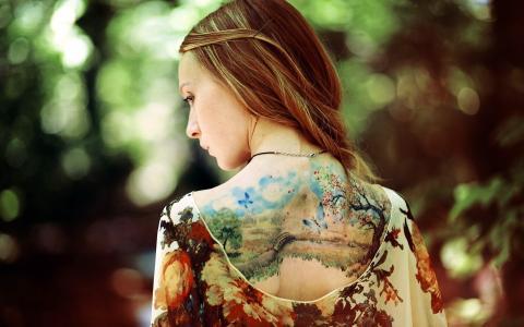可爱的纹身