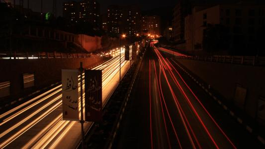 在城市的夜晚