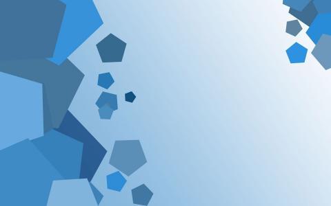 蓝色的六边形