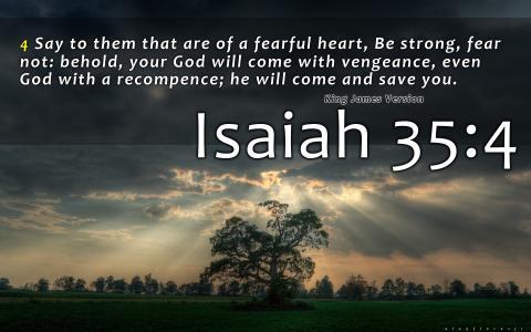 以赛亚书35:4