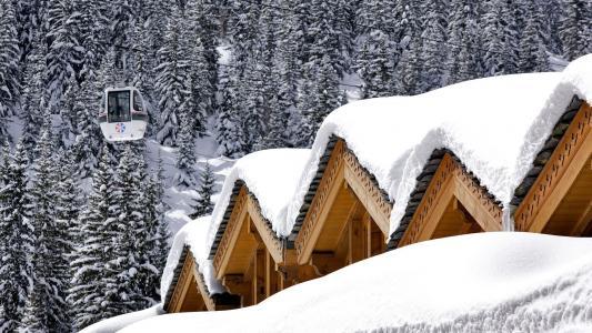 冬天在山上