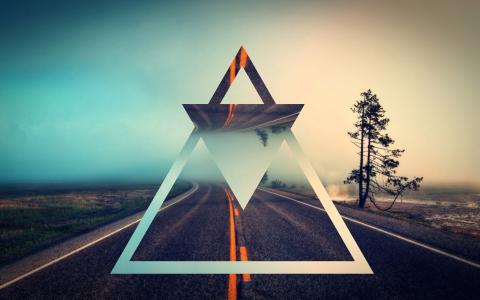 反映道路的三角形