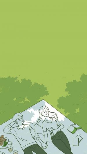 创意爱情手绘插画背景