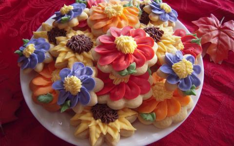 花形状的饼干