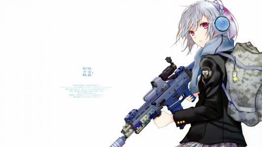 动漫狙击手的女孩