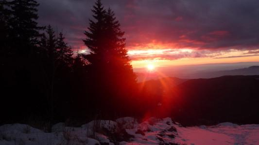冬天的日落