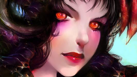 红红的眼睛的女孩