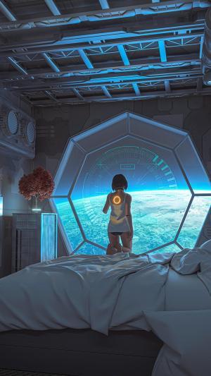 科幻的太空少女