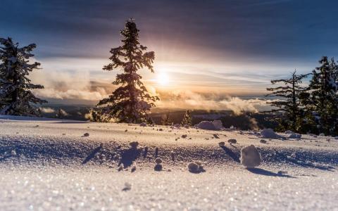 遇见最美的雪景