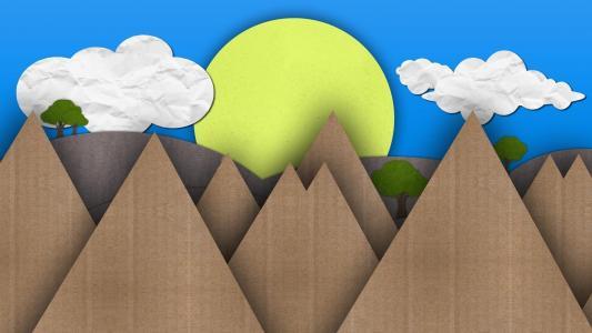 太阳和山脉