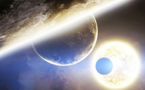 太阳升温的星球
