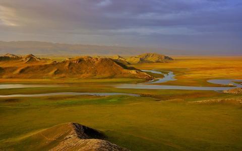 巴音布鲁克草原唯美风景