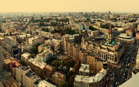 在基辅,乌克兰的全景