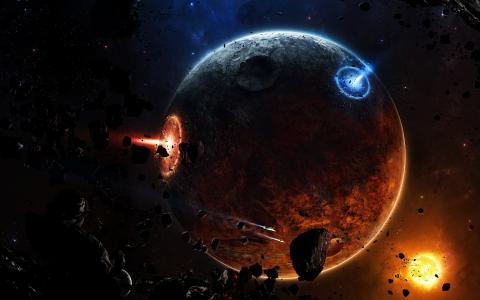 爆炸的星球