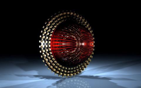 红色和金色的圆圈